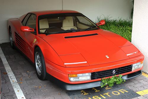 File:Ferrari Testarossa in our apartment block parking lot.jpg