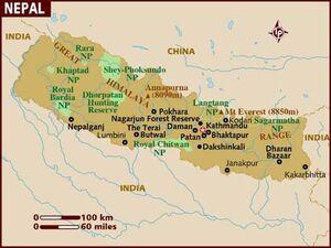 Nepal map 001