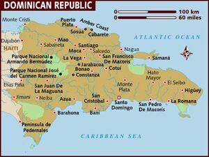 Dominican republic map 001