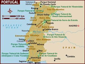 Portugal map 001