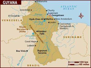 Guyana map 001