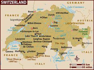Switzerland map 001