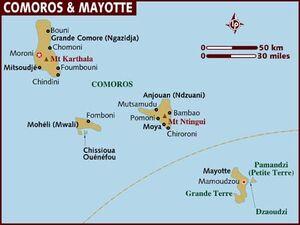 Comoros map 001