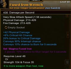 Fused Iron Wrench