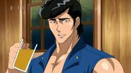 Young Jirou drinks