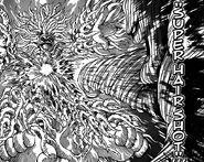 Sunny hitting King Octopus Kong with Super Hair Shot