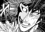 Blue Demon and Toriko's face