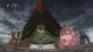Young Ichiryuu facing Four Beasts
