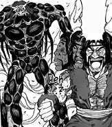 Zonge surprised by a beast