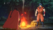 Toriko and Aimaru on the fire