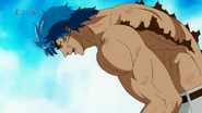 Toriko exhausted by the heat