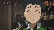 Komatsu eating Jet Black Rice