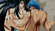 Toriko prepares his attack