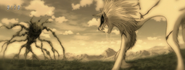 Four Beast facing Battle Wolf in the past