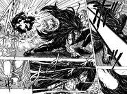 Starjun dodging Toriko's attack