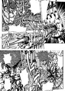 Starjun's attack going through Toriko's 50 Ren Fork Shield