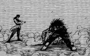 Ichiryuu defeating Midora in the past