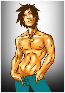 Total Drama Big Brother- Justin's Publicity Picture