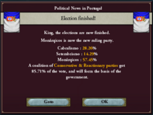 Portuguese legislative election, 1844