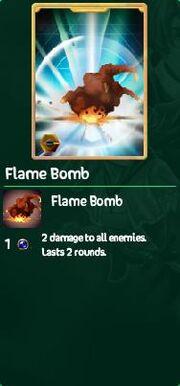 Flame bomb