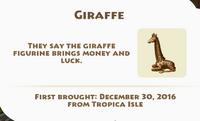 Giraffe Artifact