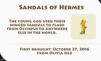 Sandals of Hermes Artifact
