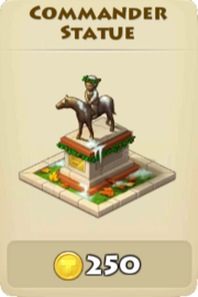 Commander statue winter