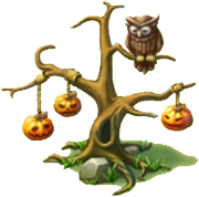 Tree with Pumpkins