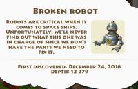 Broken Robot Artifact