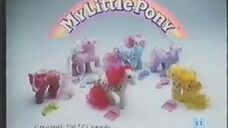 1986 My Little Pony commercial - UK Party Ponies (US Twice As Fancy Ponies)