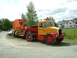 Scammel with Priestman load