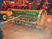 Massey-Harris seed drill front at Bath - DSC01680 edited