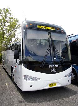 "King Long ""6126AU"" bodied Iveco Delta C260 (Front view)"