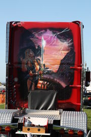Freightliner - CBZ 457 - customised cab graphics - IMG 2287