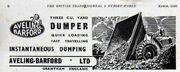 Aveling Barford dumper advert - BTJ - GG - Im194603