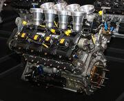 Yamaha OX88 engine rear