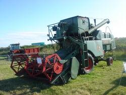Claas Matador combine at Cumbria 09 - DSC02183