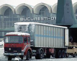 DAC 6Turbo truck, Bucharest Airport, 1989