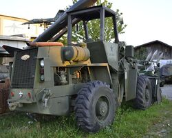 CCC military loader, rear view