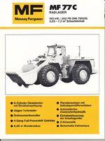 MF 77c wheel loader