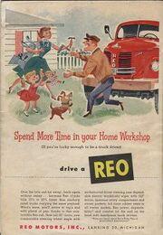 REO Motors ad Popular Mechanics Oct 1953