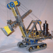 Meccano model Steam shovel excavator