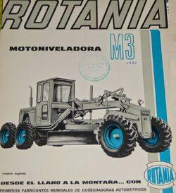 Rotania M3 grader brochure - 1970