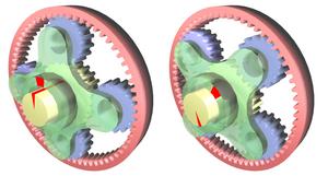 Epicyclic gear ratios
