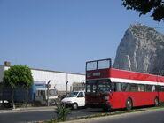 Open-top bus in Gibraltar 2005