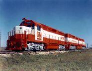 EMD GP35 DD35 demonstrator set