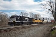 NS 7319 SD70ACU with ex-UP SD9043MAC