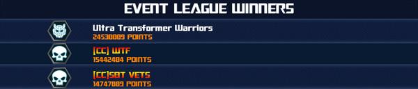 Event Optimus Maximus Awakes - League Winner