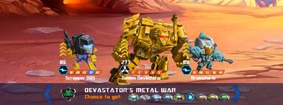 T devastators metal war x golden x2