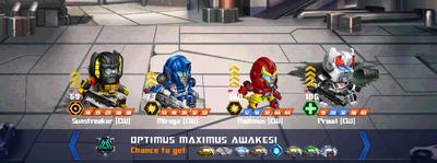 T optimus maximus awakes all cw